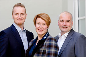 from left to right: Gerhard Gschwind, Jennifer Head (Authorized Signatory), Thorsten Meyer